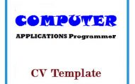 COMPUTER APPLICATIONS Programmer CV Template