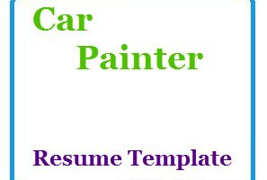 Car Painter Resume Template