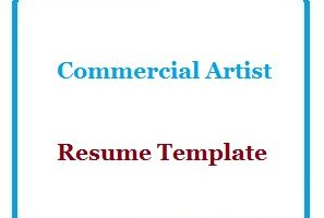 Commercial Artist Resume Template