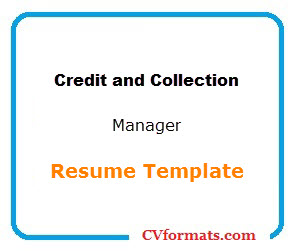 Credit and Collection Manager Resume Template