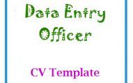 Data Entry Officer CV Template