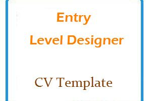 Entry Level Designer CV Templete