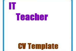 IT Teacher CV Template
