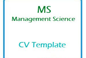 MS Management Science CV Template