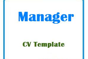 Manager CV Template