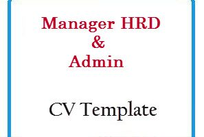 Manager HRD & Admin CV Template
