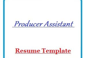 Producer Assistant Resume Template