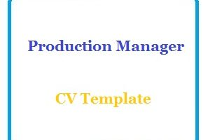 Production Manager CV Template