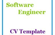 Software Engineer CV Template