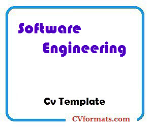 Software Engineering Cv Template