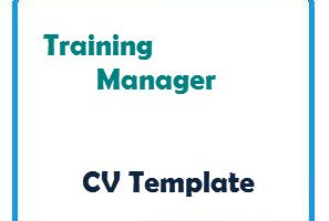 Training Manager CV Template