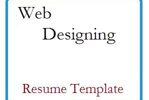 Web Designing Resume Template
