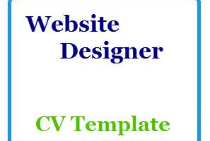 Website Designer CV Template