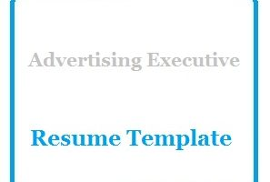 Advertising Executive Resume Template