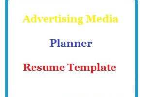 Advertising Media Planner Resume Template