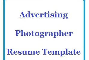 Advertising Photographer Resume Template