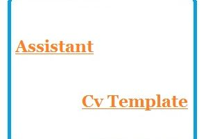 Assistant Cv Template