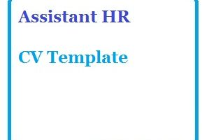 Assistant HR CV Template