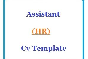 Assistant (HR) Cv Template