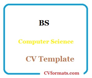 BS Computer Science CV Template