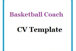 Basketball Coach CV Template
