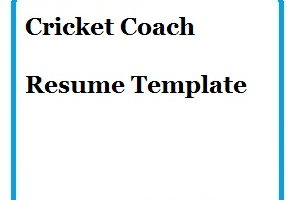 Cricket Coach Resume Template-01