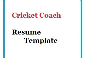 Cricket Coach Resume Template