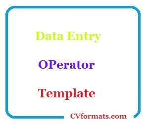 Data Entry OPerator Template