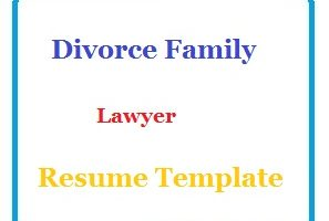 Divorce Family Lawyer Resume Template