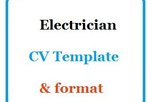 Electrician CV Template & format