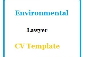 Environmental Lawyer CV Template