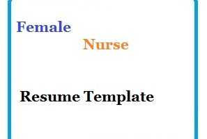 Female Nurse Resume Template