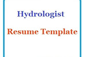 Hydrologist Resume Template