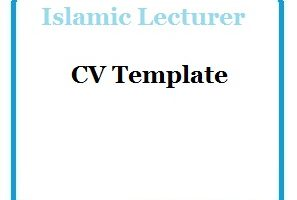 Islamic Lecturer CV Template