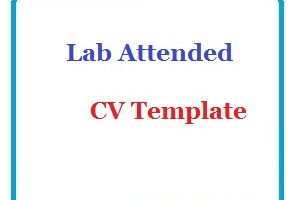 Lab Attended CV Template