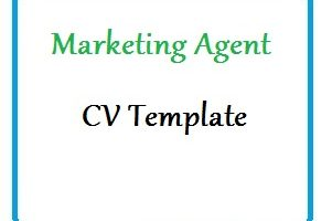 Marketing Agent CV Template