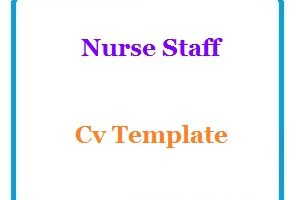 Nurse Staff Cv Template