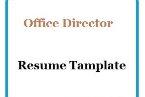 Office Director Resume Tamplate