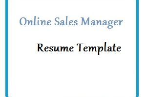 Online Sales Manager Resume Template