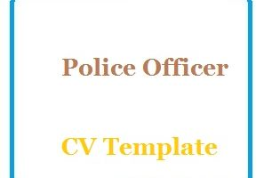 Police Officer CV Template