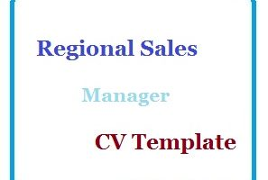 Regional Sales Manager CV Template