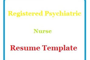 Registered Psychiatric Nurse Resume Template