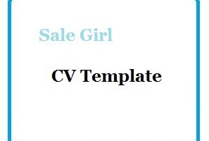 Sale Girl CV Template