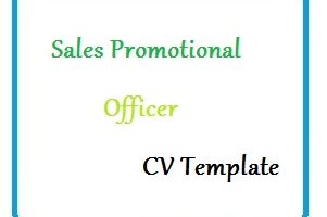 Sales Promotional Officer CV Template