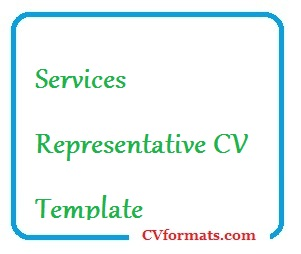 Services Representative CV Template