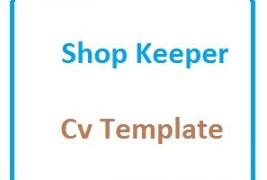 Shop Keeper Cv Template