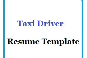 Taxi Driver Resume Template