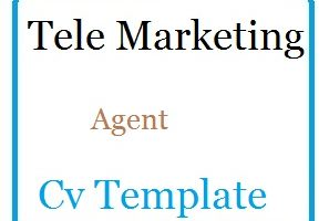 Tele Marketing Agent Cv Template