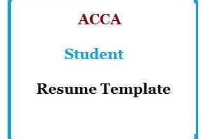 ACCA Student Resume Template
