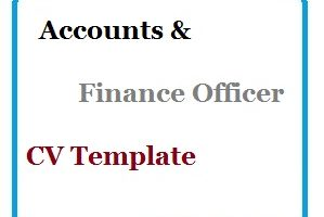 Accounts & Finance Officer CV Template